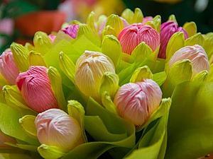 Цветы из гофро бумаги | Ярмарка Мастеров - ручная работа, handmade