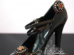 Клипсы для обуви. Вышивка бисером. Дополнительные фотографии | Ярмарка Мастеров - ручная работа, handmade