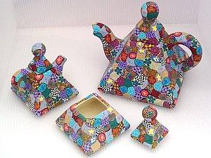 Декор посуды пластиком | Ярмарка Мастеров - ручная работа, handmade