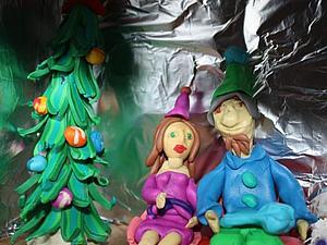 Дед Мороз с кармашками-идеи для адвенткалендаря | Ярмарка Мастеров - ручная работа, handmade