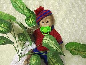 Обезьянка Жаконя-2.Куклы-реборн Инны Богдановой | Ярмарка Мастеров - ручная работа, handmade