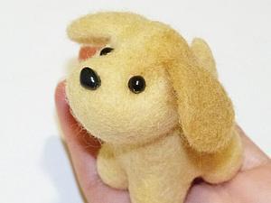 Создаем милую собачку в технике сухого валяния. Ярмарка Мастеров - ручная работа, handmade.
