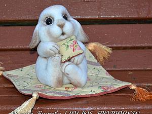 ПОСЛЕДНИЙ М/к по валянию зайчика из шерсти (1-я группа). | Ярмарка Мастеров - ручная работа, handmade