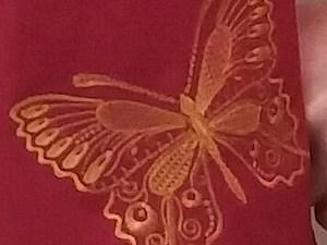 Вышивка бабочки на трикотажной тунике | Ярмарка Мастеров - ручная работа, handmade