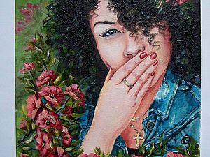 Рисуем портрет акриловыми красками. Ярмарка Мастеров - ручная работа, handmade.