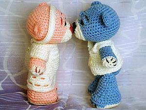 Вяжем крючком игрушку «Влюбленные мишки». Ярмарка Мастеров - ручная работа, handmade.