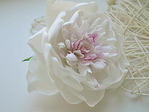 Цветы из фоамирана. Пион. | Ярмарка Мастеров - ручная работа, handmade