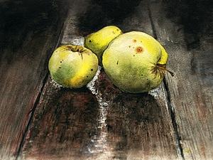 Процесс рисования. Яблоки. Ярмарка Мастеров - ручная работа, handmade.