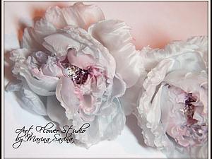 МК цветы из шёлка
