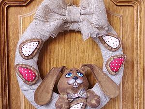 Шьем пасхальный венок с кроликом. Ярмарка Мастеров - ручная работа, handmade.