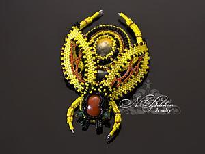 Вышивка бисером: брошь-пчела | Ярмарка Мастеров - ручная работа, handmade