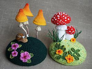 Вязаные грибочки схемы