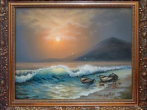Пишем морской пейзаж маслом на холсте. Ярмарка Мастеров - ручная работа, handmade.