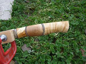 Изготовление рукояти ножа со скругленными вставками.. Ярмарка Мастеров - ручная работа, handmade.