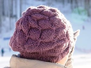 Вяжем шапку с узором «бабочки». Ярмарка Мастеров - ручная работа, handmade.
