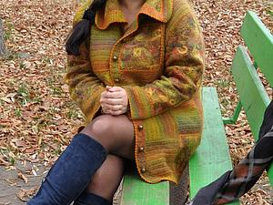 Теплый жакет Краски Осени   Ярмарка Мастеров - ручная работа, handmade