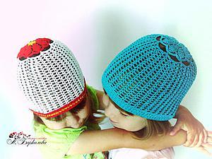 Вяжем летнюю шапочку с макушкой-цветком. Ярмарка Мастеров - ручная работа, handmade.