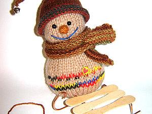 Мастер-класс, вяжем снеговичка малыша. Ярмарка Мастеров - ручная работа, handmade.