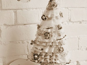 Ёлочка для декора интерьера своими руками. Ярмарка Мастеров - ручная работа, handmade.