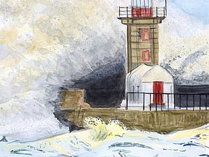 Рисуем акварелью штормовое море. Ярмарка Мастеров - ручная работа, handmade.