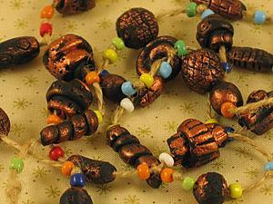 Делаем бусы в африканском стиле из керапласта. Ярмарка Мастеров - ручная работа, handmade.