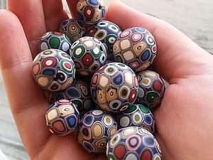 Создание полых бусин из полимерной глины. Ярмарка Мастеров - ручная работа, handmade.