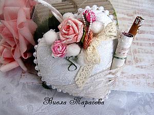 Мягкое шебби-сердце и МК! | Ярмарка Мастеров - ручная работа, handmade