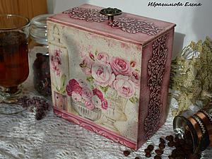 Подробный мастер-класс: декупаж + выделение рельефа, короб «В розовых мечтах». Часть 1. Ярмарка Мастеров - ручная работа, handmade.