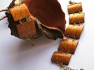 Браслет из полимерной глины в технике мика шифт, handmade