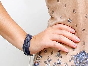 Плетеный браслет из кожи | Ярмарка Мастеров - ручная работа, handmade