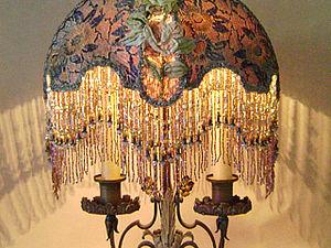 Светильники с вышитыми абажурами | Ярмарка Мастеров - ручная работа, handmade