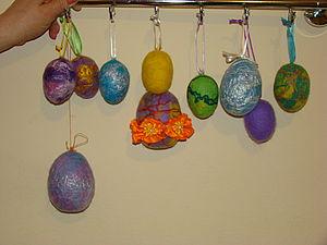 Валяем пасхальные яйца: мастер-класс. Ярмарка Мастеров - ручная работа, handmade.