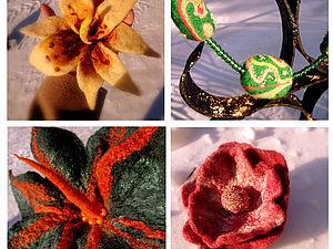 Валяние цветка-броши на каркасе | Ярмарка Мастеров - ручная работа, handmade