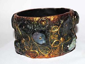 Экстравагантный браслет, handmade