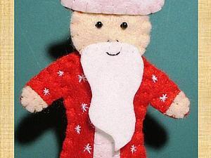 Создаем Деда Мороза для пальчикового театра. Ярмарка Мастеров - ручная работа, handmade.