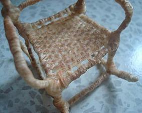Мастерим кукольное кресло из проволоки и ниток. Ярмарка Мастеров - ручная работа, handmade.