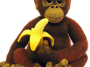 Валяем обезьянку Чичи!. Ярмарка Мастеров - ручная работа, handmade.