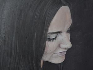 Пишем маслом портрет «Девушка с голубой розой». Ярмарка Мастеров - ручная работа, handmade.