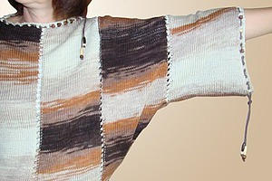 Вяжем свитер «летучая мышь» из меланжевой пряжи. Ярмарка Мастеров - ручная работа, handmade.