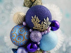 Новогодние украшения для бутылки шампанского   Ярмарка Мастеров - ручная работа, handmade