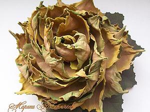 Создаем цветок из листьев | Ярмарка Мастеров - ручная работа, handmade