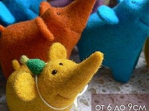 Слоники. Мастер-класс по сухому валянию | Ярмарка Мастеров - ручная работа, handmade