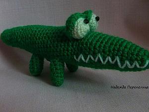 Вяжем крокодила крючком. Ярмарка Мастеров - ручная работа, handmade.