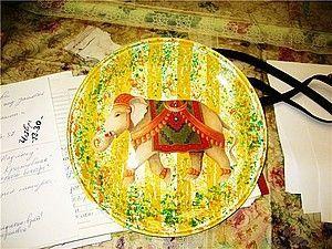 Обратный декупаж с декупажной картой и полосатый фон. | Ярмарка Мастеров - ручная работа, handmade
