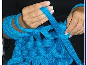 Ручное вязание толстой пряжей
