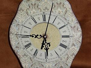 Часы в технике классического декупажа. Ярмарка Мастеров - ручная работа, handmade.