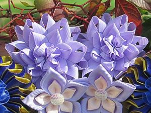 Собираем простой цветочек из ленты. Ярмарка Мастеров - ручная работа, handmade.