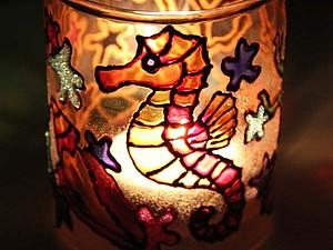 Мастер-класс по росписи подсвечника-стакана | Ярмарка Мастеров - ручная работа, handmade
