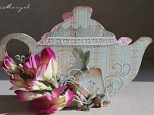 Чайник для чайных пакетиков или салфетница | Ярмарка Мастеров - ручная работа, handmade