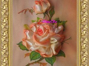 Процесс создания розы из атласных лент... | Ярмарка Мастеров - ручная работа, handmade